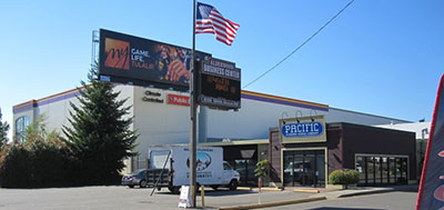 Traveling west on 196th St SW, turn right before the Alderwood Business Center sign.
